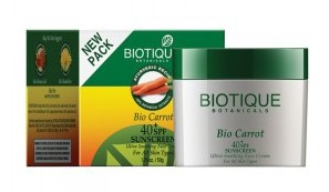 Био Морковь крем SPF 40 с UVA/UVB (Bio Carrot, Biotique) 50 гр. - 1