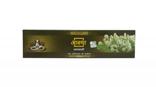 Благовония с ароматом Жасмина Патанджали (Aastha Agarbatti, Patanjali) 20гр - 1