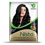 Краска Ниша безаммиачная Черная (Nisha Henna based hair color, Black) 20 гр.