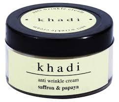Крем от морщин Шафран и Папайя с маслом Ши, Кхади (Anti wrinkle cream, Khadi) 50 гр. - 1