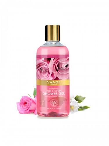 Гель для душа Роза и Жасмин, Ваади (Rose and Mogra Shower Gel, Vaadi) 300 мл - 1