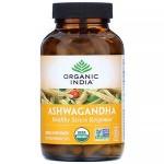 Ашвагандха, Органик Индия  ( Ashwagandha, Organic India) 60 кап