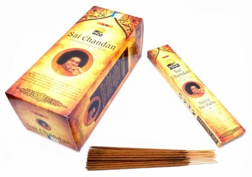 Благовония Sandesh Sai Chandan 15 палочек в пачке 15 грамм - 1