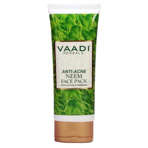 Маска для лица Ним с Гвоздикой и Куркумой, Ваади (Anti Acne Neem Face Pack, Vaadi Herbals) 120 мл - 1