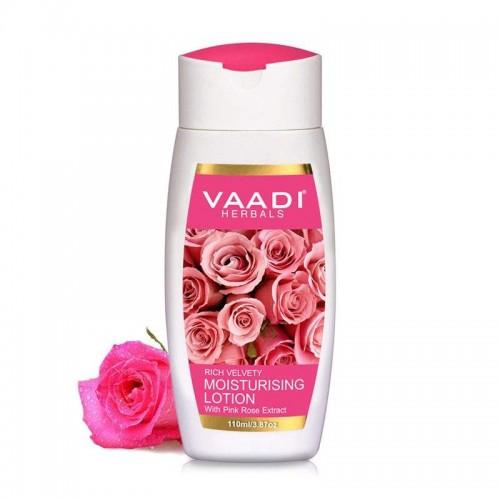 Лосьон увлажняющий для лица и тела Роза, Ваади (Moisturising Lotion with Pink Rose, Vaadi) 350 мл - 1