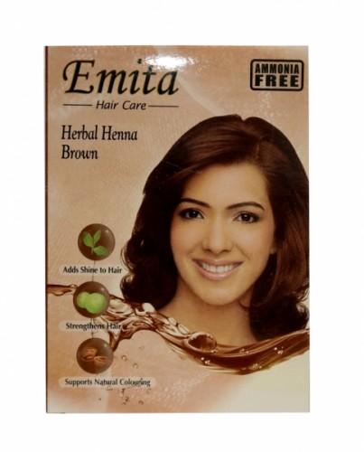 "Краска Эмита на основе хны ""Коричневый"" (Emita Brown) 60 гр. - 1"