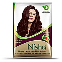 Краска Ниша безаммиачная, Коричневый (Nisha Henna, Brown) 20 гр. - 1