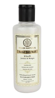 Гель для душа Жасмин и Могра, Кхади (Khadi Herbal Body Wash) 210 мл - 1