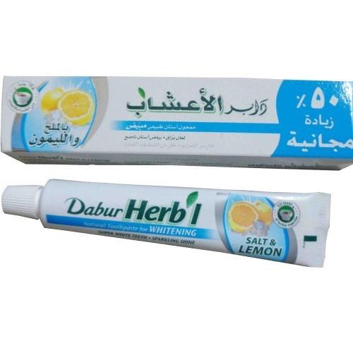 Зубная паста Соль и Лимон, Дабур (Toothpaste Salt & Lemon, Dabur) 80 гр - 1