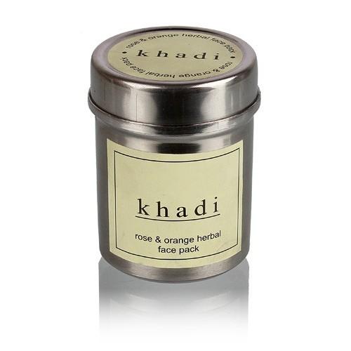 Маска д/лица Роза и Апельсин, Кхади (сухая) (Herbal face pack, Khadi) 50 гр - 1