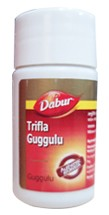 Трифала Гуггул, Дабур (Triphala guggulu, Dabur) 40 таб - 1