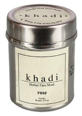 Маска д/лица Роза Кхади (сухая) (Herbal face pack, Khadi), 50 гр - 1