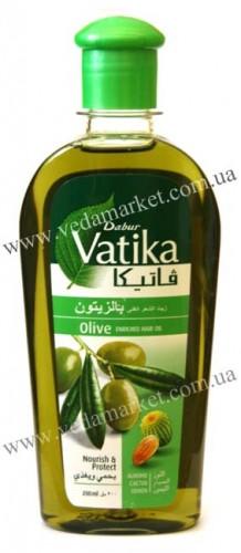 Масло для волос Ватика с Оливами (Dabur, Vatika) 200 мл - 1