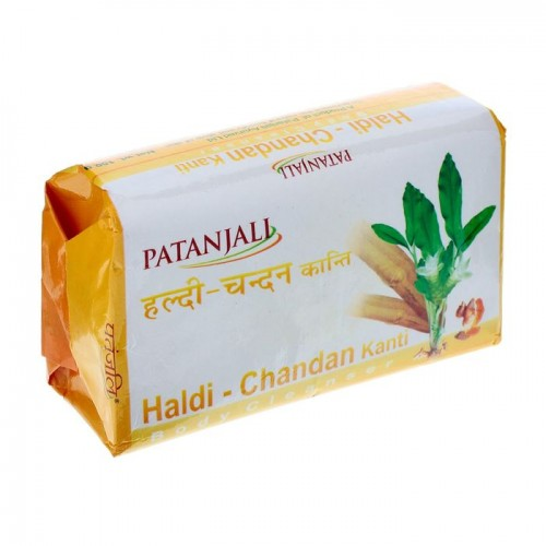 Мыло KANTI Куркума-Сандал, Haldi-Chandan (Patanjali), 75 гр - 1