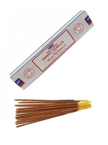 Благовония натуральные Сладкая Ваниль, Сатья (Sweet Vanilla, Satya) 15 гр - 1