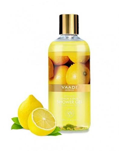 Гель для душа Лимон и Базилик, Ваади (Lemon and Basil Shower Gel, Vaadi) 300мл - 1