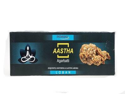 Благовония с ароматом Лобан Патанджали (Aastha Agarbatti, Patanjali) 20гр - 1