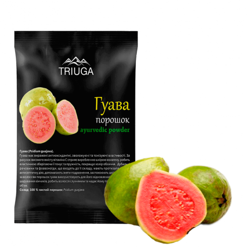 Гуава порошок, Триюга (Psidium guajava powder, Triuga) 50 грамм - 2